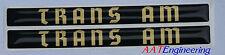 76 77 78 79 80 81 TRANS AM SE Gold Font 3D Door handle Inserts Bandit NICE ~NEW