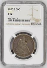 1875-S - USA - Half Dollar 50C - Seated Liberty - NGC F 12 - COIN !!!