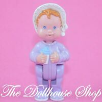 Fisher Price Loving Family Dream Dollhouse Nursery Purple Baby Girl Doll