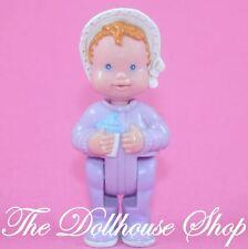 Fisher Price Loving Family Dream Dollhouse Nursery Purple Baby Girl Doll