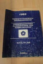 1993 Chrysler Jeep VAN Schaltpläne Werkstatthandbuch