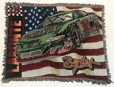 "Nascar #18 Terry Labonte 55""x 42"" Woven Tapestry Throw Blanket Fringe"
