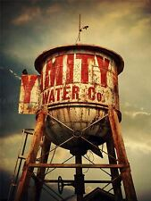 Fotografía composición Antiguo Retro Torre De Agua Rusty impresión arte cartel mp3346a