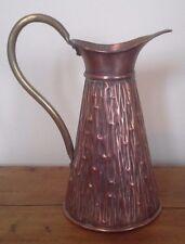 antique copper jug/flagon, metalware, copper, antique