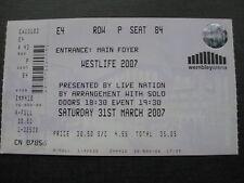 WESTLIFE  WEMBLEY  31/03/2007 UNUSED TICKET