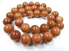 Goldfluss 12mm Goldbraun Perlen rund Schmuckperlen 1 Strang