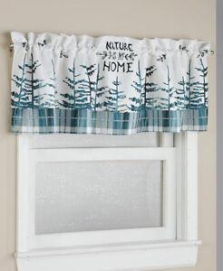 Evergreen Northwoods Lodge Cabin Window Valance Nature Is My Home Plaid Valance