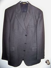 Mens Suit STRATHMORE by Richman 2 Piece 3 Button Size 42L Wool Charcoal Men's