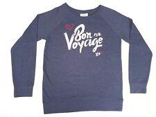 Princess Cruises Womens Dark Blue Sweater / Bon Voyage XO w Rhinestones sz Small