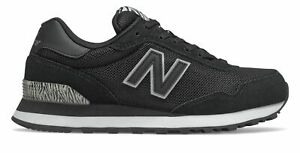 New Balance Women's 515 Classic Shoes Black with Black