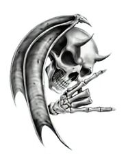 Devil Death Skull Motorcycle Helmet Vehicle Car Truck Window Decal Sticker