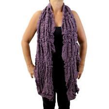Soft Purple Scarf Ruffle Shawl Neck Wrap Fashion Accessories