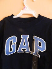 "NWT baby Gap boy navy t-shirt w/blue ""GAP"" logo outlined in white ; size 2T"