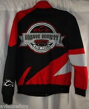 Orange County Choppers New York Black Orange Large Logo Racing Jacket Men's M