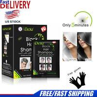 10Pcs/Box Permanent Black Hair Shampoo Dexe Hair Color Instant Dye 5 Minutes