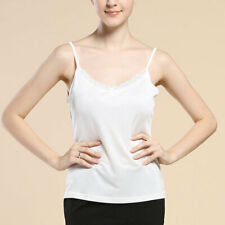 Pure  Silk Knit Womens Lacy V Neck Camisole Tank Top
