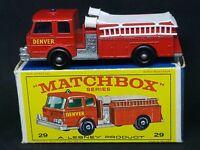 Matchbox Lesney MB29-C1: Fire Pumper Truck in Type E4 Box