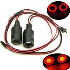 17mm Angel & Demon Eyes 2LEDs Headlight Back Light For 1/10 RC Car Red+Yellow