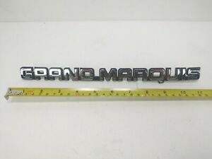 RARE LARGE Mercury OEM 1988-1991 Grand Marquis Rear Trunk Lid Emblem Badge