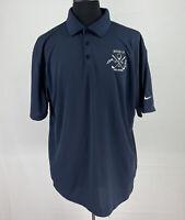 Nike Mens Golf Polo Shirt Short Sleeve Size XL Navy Blue Dri-Fit