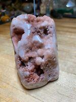 Rare Pink Amethyst Crystal Mineral Gemstone High Polished Finish Specimen 032