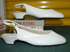NIB ENNA JETTICKS SMASH White Orthopedic Occupational Small Heels Size 8 EW