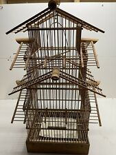 New listing Vintage Asian Bamboo Bird Cage
