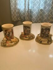 Bradford Exchange Live, Love, Purr tealight candle holders