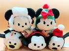 Disney Mickey Minnie Pluto Goofy Figaro CAT TSUM TSUM Christmas Plush Toy 5pcs