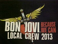 New Bon Jovi Because We Can Tour 2013 Local Crew T-Shirt Size XL Color Black
