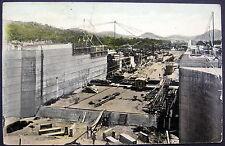 PANAMA CANAL ~ 1915 LOCK CHAMBER AT MIRAFLORES ~ CONSTRUCTION ~