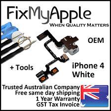 iPhone 4 OEM White Headphone Audio Jack Volume Flex Cable Replacement Tools Kit