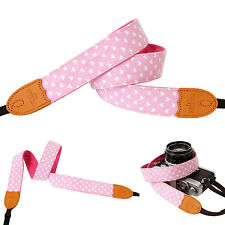 Light Pink C heart print Fashion Camera Neck Shoulder Strap for Film SLR DSLR RF