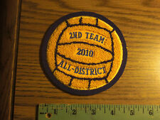 Sleeve patch round VOLLEYBALL 5' CHENILLE  VARSITY LETTERMAN  2010 ALL DISTRICT