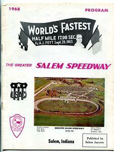 Salem Speedway Auto Race Program- USAC