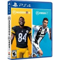 EA Sports Bundle FIFA & Madden NFL 19 for PlayStation 4 PS4 Factory Sealed