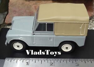 Oxford 1/43 Scale Diecast Land Rover Series III SWB Canvas - Mid Grey 43LR3S003