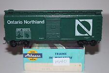 HO Scale Athearn 1213 Ontario Northland 40' Single Door Boxcar 90075 L1540