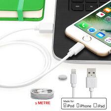 1m Blanco Extra Long Lightning Cable cargador usb para Iphone 5C S SE 6S 7 Plus