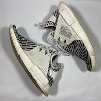 Adidas NMD XR1 PK Zebra Primeknit Boost White Mens 12 Shoes Sneakers BB2911 RARE
