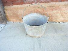 galvanized metal bucket larger size flower garden porch decor leaks