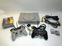 Sony PlayStation 1 PS1 Console OEM W/ 2 Controllers 5 Games 2 memory cards