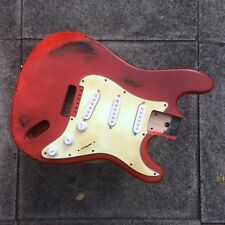 Strat Stratocaster Guitar Body Aged Fiesta Red Heavy Relic Generic