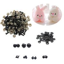 100x Black Plastic Safety Eyes Toy for Teddy Bear Doll Animal Making Craft DI Tu