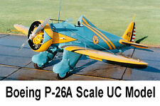 """Model Airplane Plans (Uc): Boeing P-26A 1/8 Scale 42"""" .49-.56 ('64 Nats Winner)"""