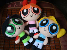 "3pcs/set The Powerpuff Girls 1999 Cartoon Network Plush Toy 9"" Doll Xmas Gift"