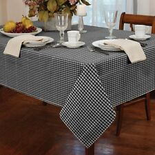 "Gingham Check Black White Round 60"" 152cm Table Cloth"