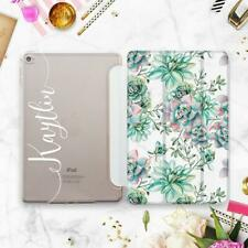 Succulent iPad Pro 11 12.9 2018 Case Floral Personalized iPad 6 Mini 4 5 2019