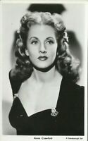 Anne Crawford Hollywood Actress Movie Star 1940s Real Photo Postcard