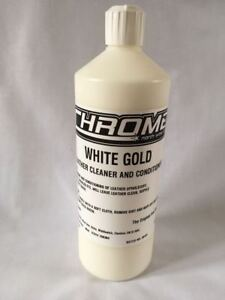 Chrome Cleaning Products 1 LTR White Gold, Leather Cleaner & Conditioner